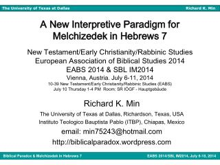Richard K. Min The University of Texas at Dallas, Richardson, Texas, USA