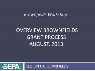 Brownfields Workshop