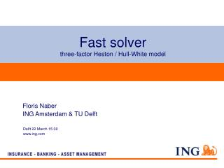Fast solver  three-factor Heston / Hull-White model