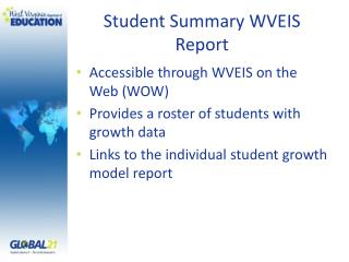 Student Summary WVEIS Report