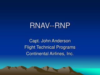 RNAV--RNP