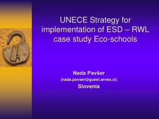 Nada Pav�er (nada.pavser@guest.arnes.si) Slovenia