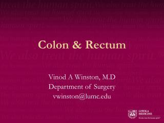 Colon & Rectum