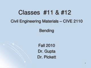 Classes  #11 & #12