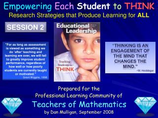 Prepared for the Professional Learning Community of Teachers of Mathematics