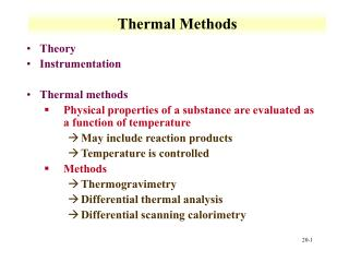 Thermal Methods
