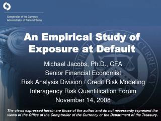 An Empirical Study of Exposure at Default
