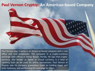 Paul Vernon Cryptsy - An American-based Company