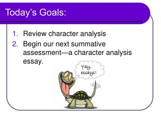 character analysis assignment Choose your character for a character analysis assignment in school, your character may be assigned to you but if you get to choose, make sure you only consider.