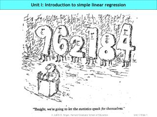 Unit I: Introduction to simple linear regression