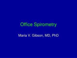 Office Spirometry