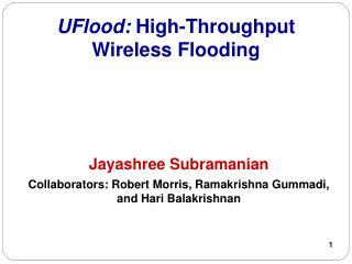 UFlood:  High-Throughput Wireless Flooding