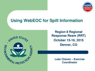 Using  WebEOC  for Spill Information