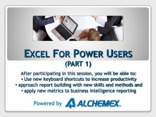Excel For Power Users  (PART 1)