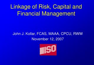 Linkage of Risk, Capital and Financial Management