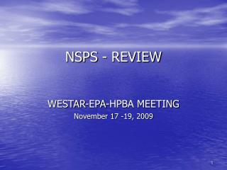 NSPS - REVIEW