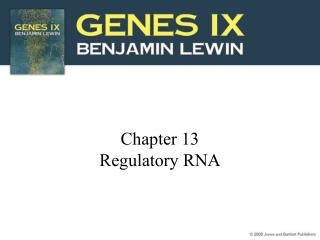 Chapter 13 Regulatory RNA