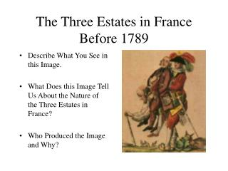 The Three Estates in France Before 1789