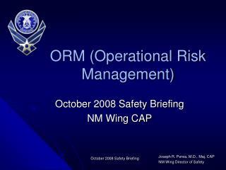 ORM (Operational Risk Management)