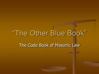 """The Other Blue Book"""