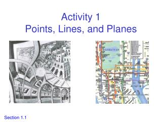 Activity 1 Points, Lines, and Planes