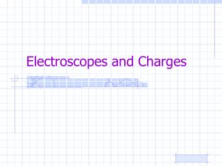 Electroscopes and Charges