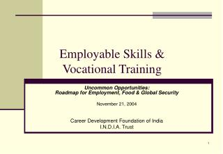 Employable Skills &  Vocational Training