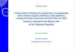Project name: