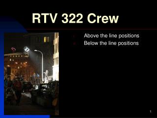 RTV 322 Crew