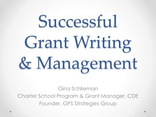 Successful  Grant Writing  & Management