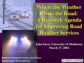 Board on Atmospheric Sciences and Climate Transportation Research Board
