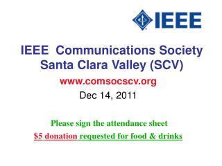 IEEE  Communications Society Santa Clara Valley (SCV)