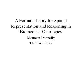 A Formal Theory for Spatial Representation and Reasoning in Biomedical Ontologies