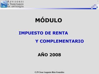 MÓDULO AÑO 2008