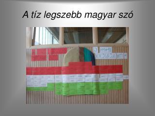 A tíz legszebb magyar szó