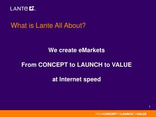 What is Lante All About?