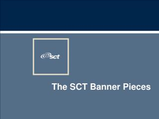 The SCT Banner Pieces