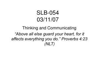 SLB-054 03/11/07