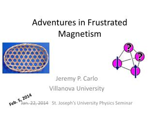 Adventures in Frustrated Magnetism