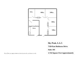 Sky Peak, L.L.C. 7320 East Butherus Drive Suite 101 1,724 Square Feet Approximately
