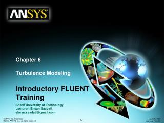 Chapter 6 Turbulence Modeling