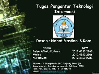 Tugas Pengantar Teknologi Informasi
