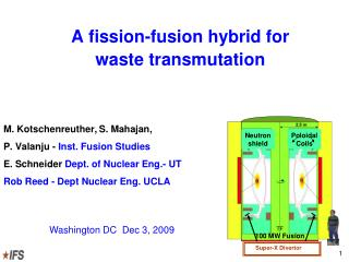 A fission-fusion hybrid for  waste transmutation