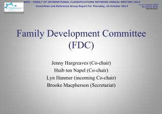 Family Development Committee (FDC)