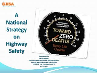 A  National  Strategy  on  Highway Safety