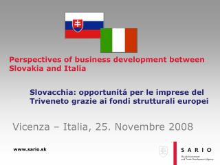 Perspectives of business development between Slovakia and  Italia