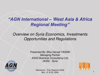 �AGN International � West Asia & Africa Regional Meeting�