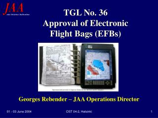 TGL No. 36 Approval of Electronic Flight Bags (EFBs)