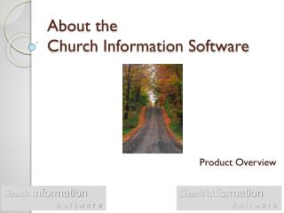 About the  Church Information Software