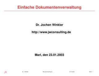 Einfache Dokumentenverwaltung